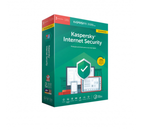 Software Kaspersky Internet Security 2020 Multi-Device 3 Users 1 Ano Renovações