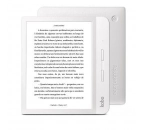 """eReader Kobo Libra H20 7"""" 8GB Wi-Fi Branco"""