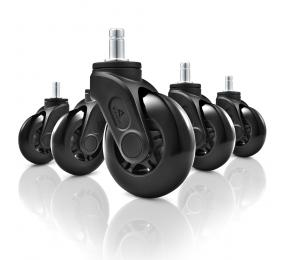 Conjunto 5 Rodas p/ Cadeira Sharkoon SW10 75mm Inline Skates Caster