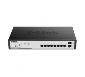 Switch D-Link DGS 1100-10MP  8x10/100/1000 + 2xSFP Easy Smart PoE+