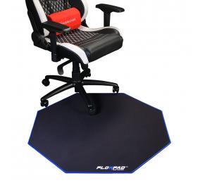 Tapete de Cadeira FlorPad Preto/Azul
