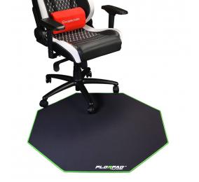Tapete de Cadeira FlorPad Preto/Verde