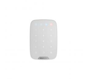 Teclado Ajax KeyPad c/ Funções: Armar/Desarmar/Parcial/Pânico e Sensor de Temperatura Branco