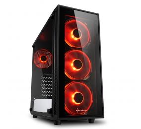Caixa ATX Sharkoon TG4 com Janela Preta LED Vermelho