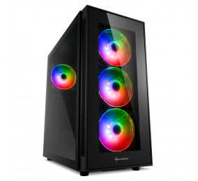 Caixa ATX Sharkoon TG5 Pro RGB Preta
