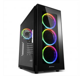 Caixa ATX Sharkoon TG5 RGB Silent PCGH Edition Preta