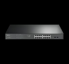 Switch TP-Link TL-SG1218MP 18-Portas Gigabit Rackmount  Switch c/ 16-Portas PoE+
