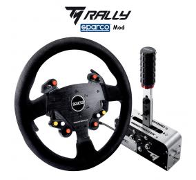 Race Kit Thrustmaster Shifter/Handbrake + Volante TM Rally Race Gear AR Sparco Mod
