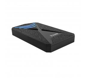"""Caixa Externa 2.5"""" TooQ TQE-2550BL SATA USB 3.0/3.1 Gen 1 LEDs Azuis"""