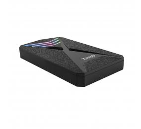 """Caixa Externa 2.5"""" TooQ TQE-2550RGB SATA USB 3.0/3.1 Gen 1 LEDs Multicor"""