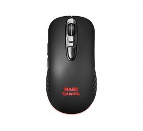 Rato Óptico Mars Gaming MMW2 RGB 3200DPI Wireless Preto