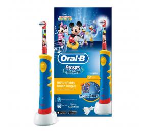 Escova de Dentes Elétrica Oral-B Stages Power Kids (Disney Mickey Mouse)